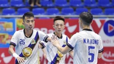 Quả bóng đồng futsal Việt Nam 2020 Phùng Trọng Luân đang dẫn đầu danh sách ghi bàn tại Giải futsal VĐQG 2021. Ảnh: ANH TRẦN