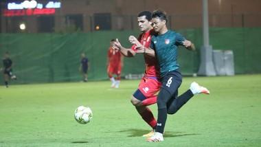 Myanmar chỉ có một trận đấu tập trong thời gian tập huấn tại UAE. Ảnh: MFF