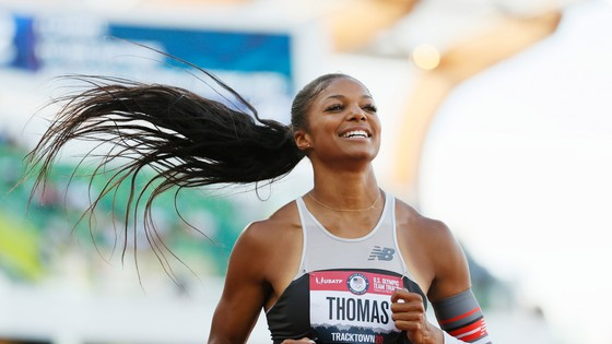 Gabby Thomas - cựu sinh viên trường đại học Harvard đoạt huy chương đồng Olympic Tokyo 2020. Ảnh: GETTY IMAGES