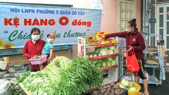 A Zero-VND stall in Go Vap District (Photo: SGGP)