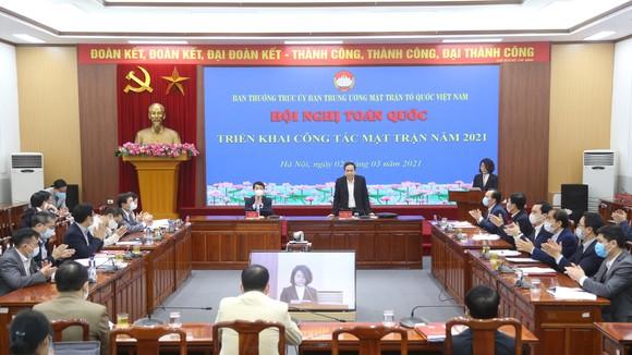 Hội nghị trực tuyến triển khai nhiệm vụ công tác Mặt trận năm 2021