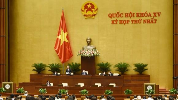 Quốc hội thảo luận tại hội trường. ẢNH: QUANG PHÚC