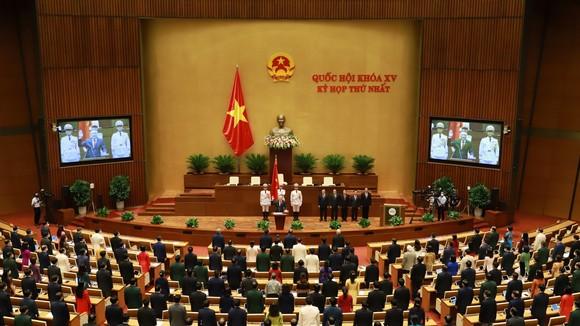 Kỳ họp thứ nhất Quốc hội khóa XV, chiều 26-7. ẢNH: QUANG PHÚC