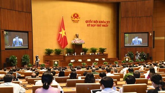 Kỳ họp thứ nhất Quốc hội khóa XV. Ảnh: QUANG PHÚC