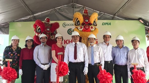 Leaders and Ambassador of Canada to Vietnam attend the ground-breaking ceremony.