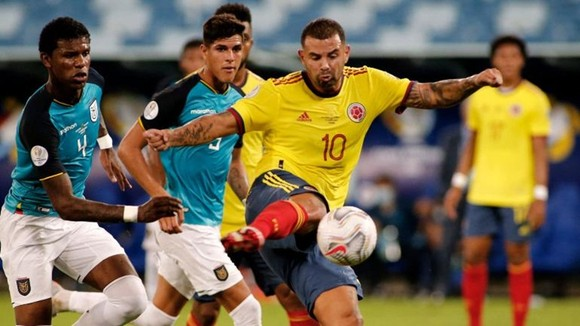 Edwin Cardona ghi bàn thắng duy nhất giúp Colombia chiến thắng.