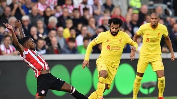 Mohamed Salah và Liverpool vẫn vươn lên đầu bảng. Ảnh: Getty Images