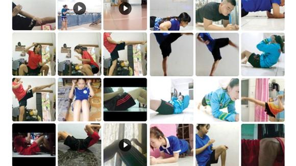 Các tuyển thủ pencak silat TPHCM tập tại nhà. Ảnh: P.NGUYỄN