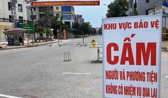 Một khu vực phong tỏa ngăn chặn dịch Covid-19 tại huyện Tiên Du, Bắc Ninh