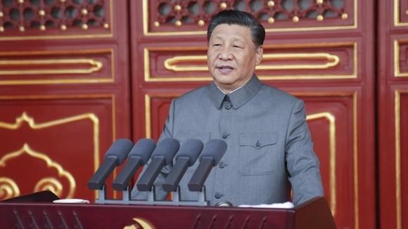 Ông Tập phát biểu tại một cuộc họp.