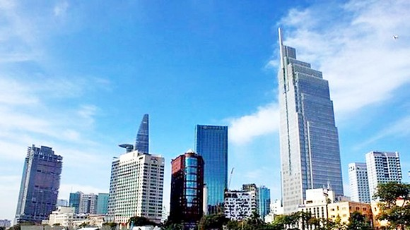 Buildings in the central business district in Ho Chi Minh City. PHOTO: VNA/VNS