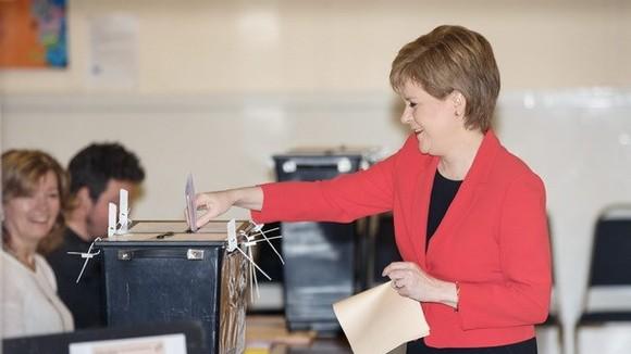 Lãnh đạo Đảng Dân tộc Scotland (SNP) Nicola Sturgeon. Nguồn: EPA/TTXVN
