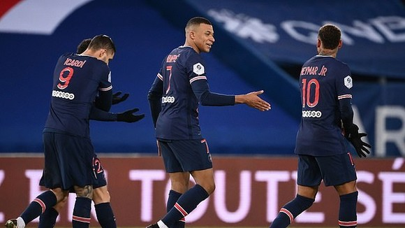 Kylian Mbappe dẫn đầu giải Vua phá lưới Ligue 1