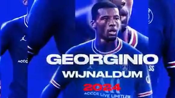 Hình ảnh Georginio Wijnaldum đượcd đăng trên website của Pháp