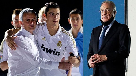 Chủ tịch Real Madrid lại lộ phát ngôn xúc xiểm Ronaldo và Mourinho