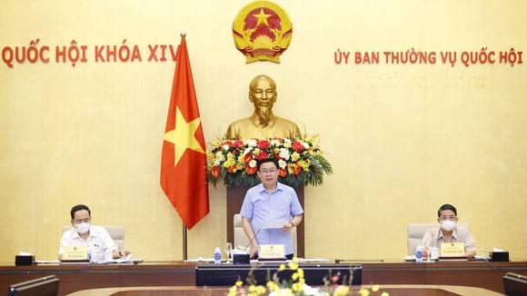 Chủ tịch Quốc hội Vương Đình Huệ chủ trì buổi làm việc với Thường trực Ủy ban Về  các vấn đề xã hội