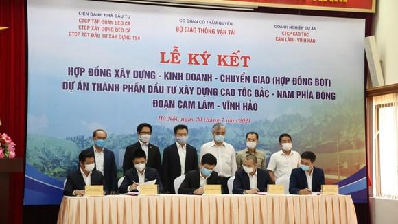 Lễ ký kết hợp đồng BOT đoạn Cam Lâm- Vĩnh Hảo