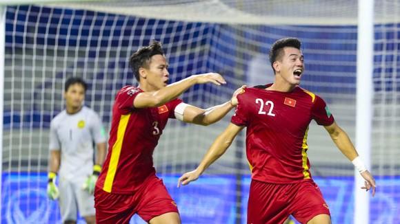 Tiến Linh là cầu thủ ghi bàn thắng mở điểm cho đội tuyển Việt Nam. Ảnh: AFC