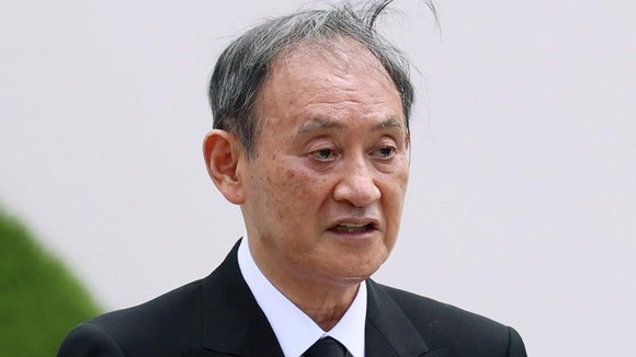 Thủ tướng Nhật Bản Yoshihide Suga đã gửi lời cảm ơn đến người dân đã cùng chung tay đưa Olympic Tokyo về đích an toàn. Ảnh: AP