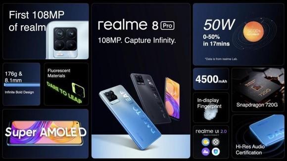 """realme 8 Pro với """"trái tim"""" Snapdragon 720G tạo nên những sức mạnh đáng giá"""