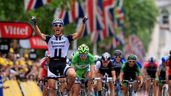 Marcel Kittel thắng 2 trong 3 chặng Tour de France 2014 trên lãnh thổ nước Anh
