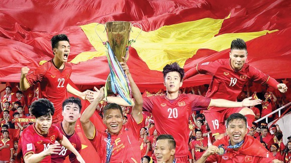 The national men's football team is ranked 92nd in the latest FIFA rankings, with 1,258 points.(Photo: SGGP)