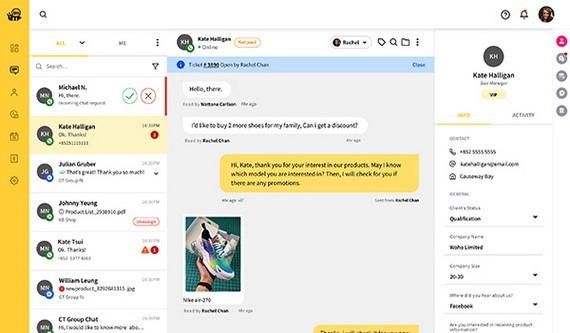 imBee透過自主研發的平台,把Line、WhatsApp、WeChat等通訊軟件整合於同一個平台,讓用戶可以更好地處理來自不同通訊軟件傳來的訊息。
