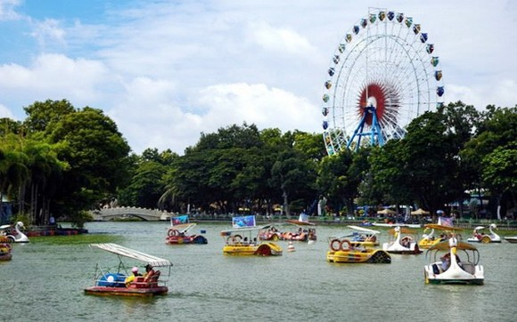 蓮潭文化公園一隅。(圖源:阮延)