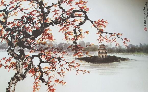 秋之美 張漢明 畫