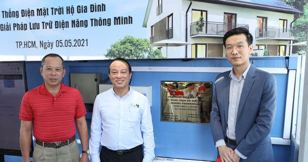 Huawei ra mắt dự án điện mặt trời áp mái hộ gia đình sử dụng bộ lưu trữ thông minh
