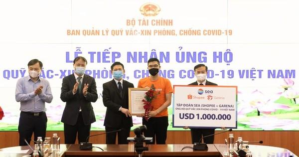 Shopee và Garena Việt Nam chung tay ủng hộ Quỹ vaccine phòng Covid-19