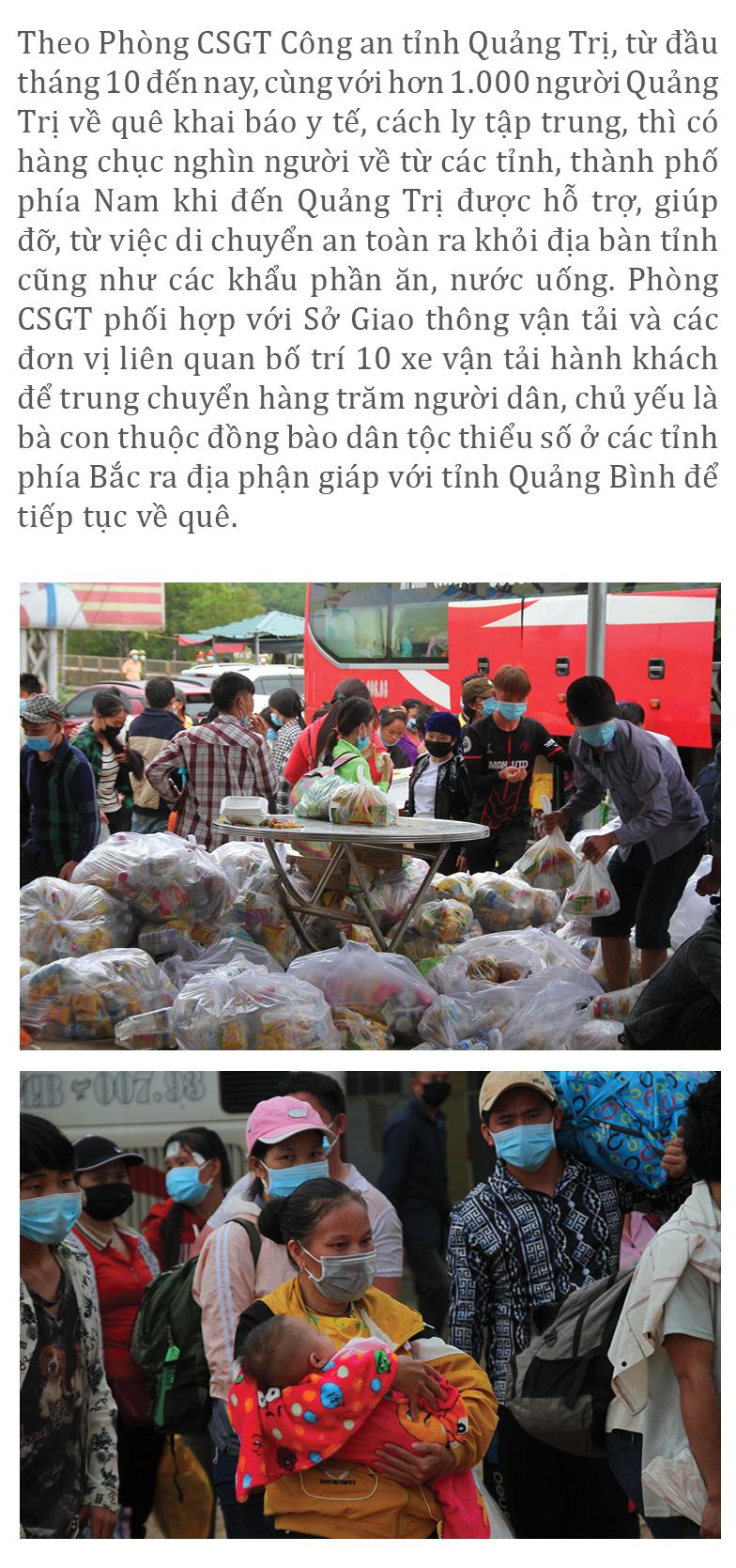Nồng ấm nghĩa tình miền Trung hỗ trợ dòng người về quê ảnh 16