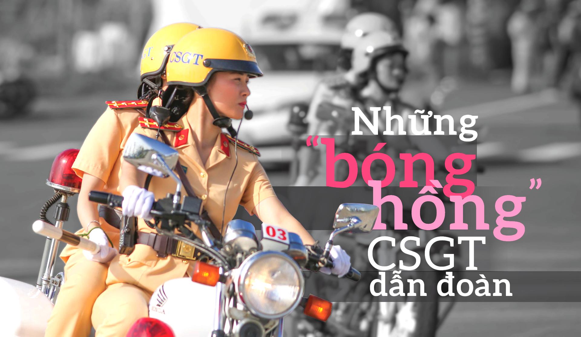 """Những """"bóng hồng"""" CSGT dẫn đoàn"""
