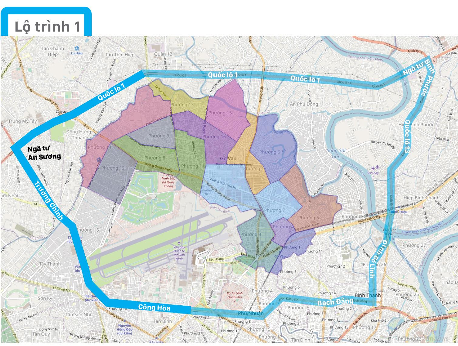 Một số lộ trình lưu thông không qua địa bàn quận Gò Vấp  ảnh 6