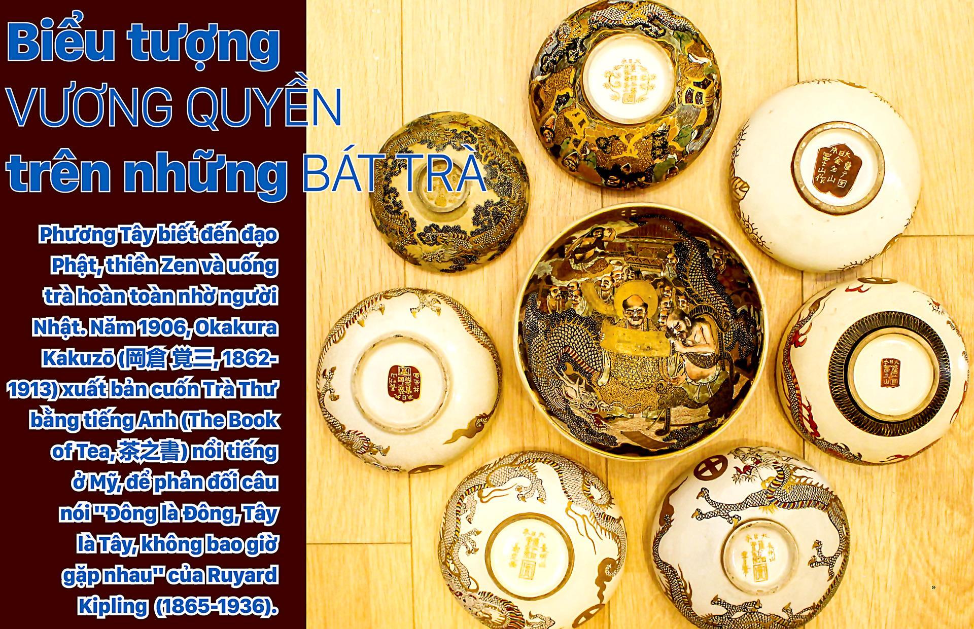 Biểu tượng vương quyền trên những bát trà