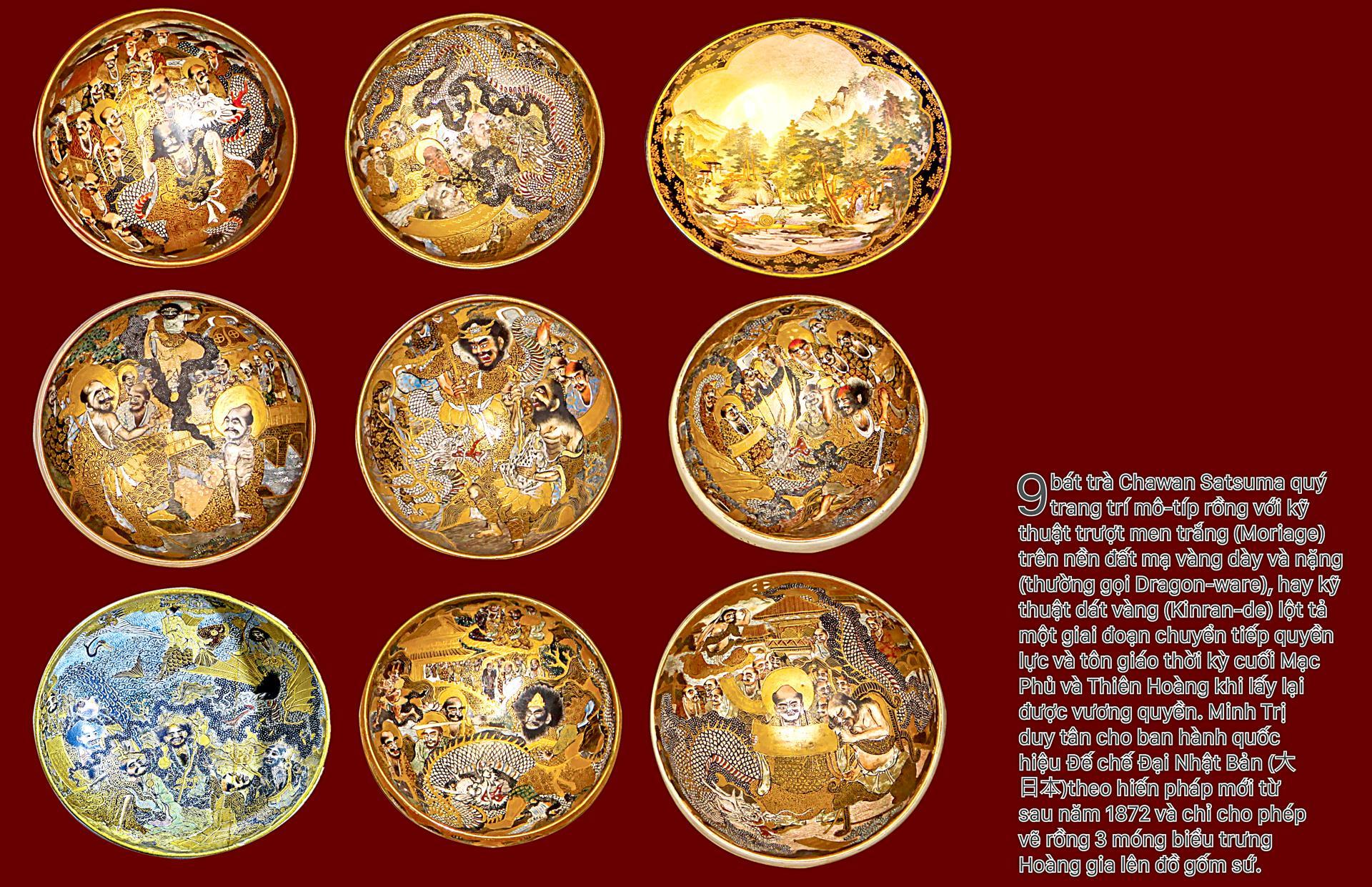Biểu tượng vương quyền trên những bát trà   ảnh 1