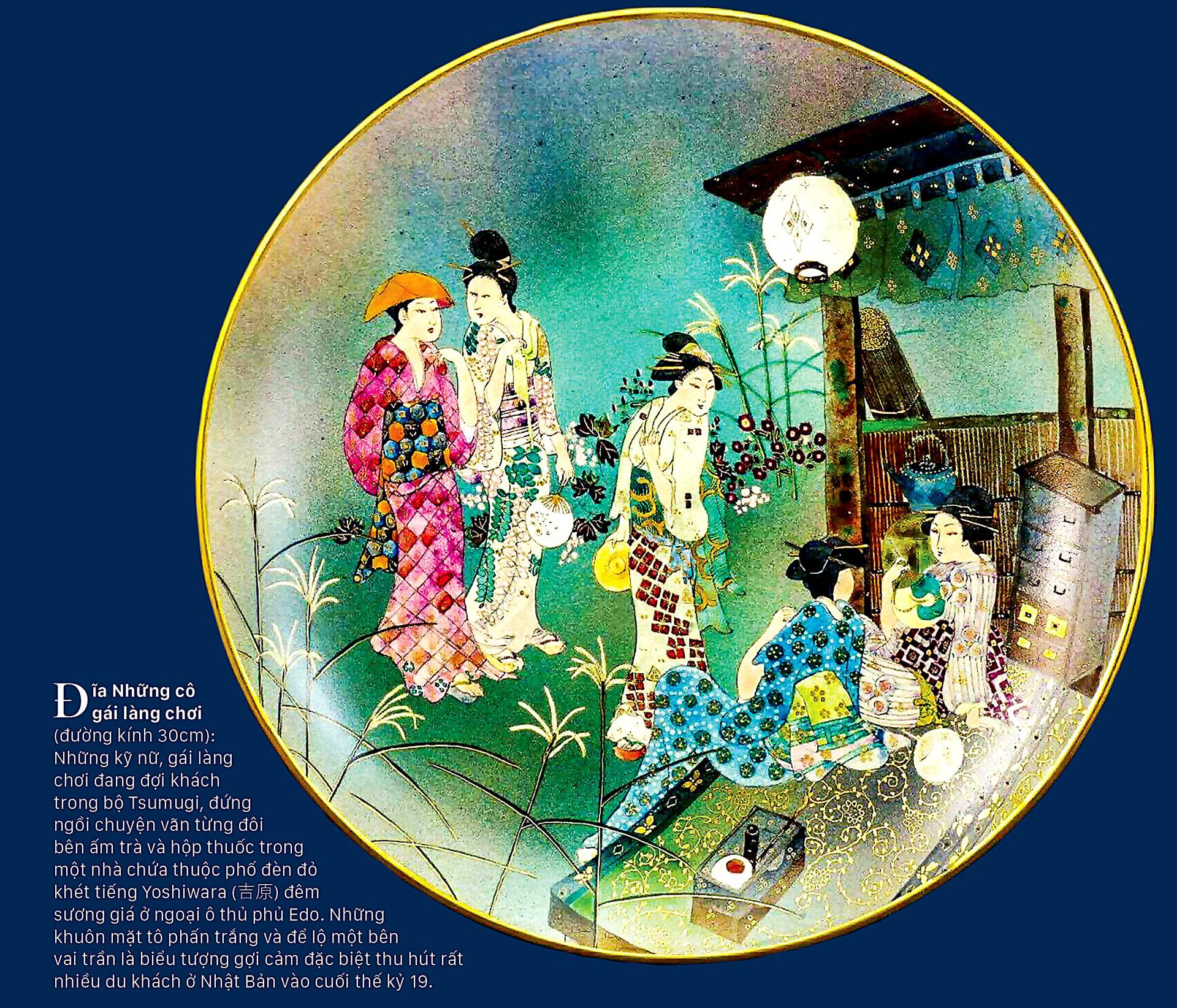 Tao nhã trang phục Kimono trên gốm cổ ảnh 4