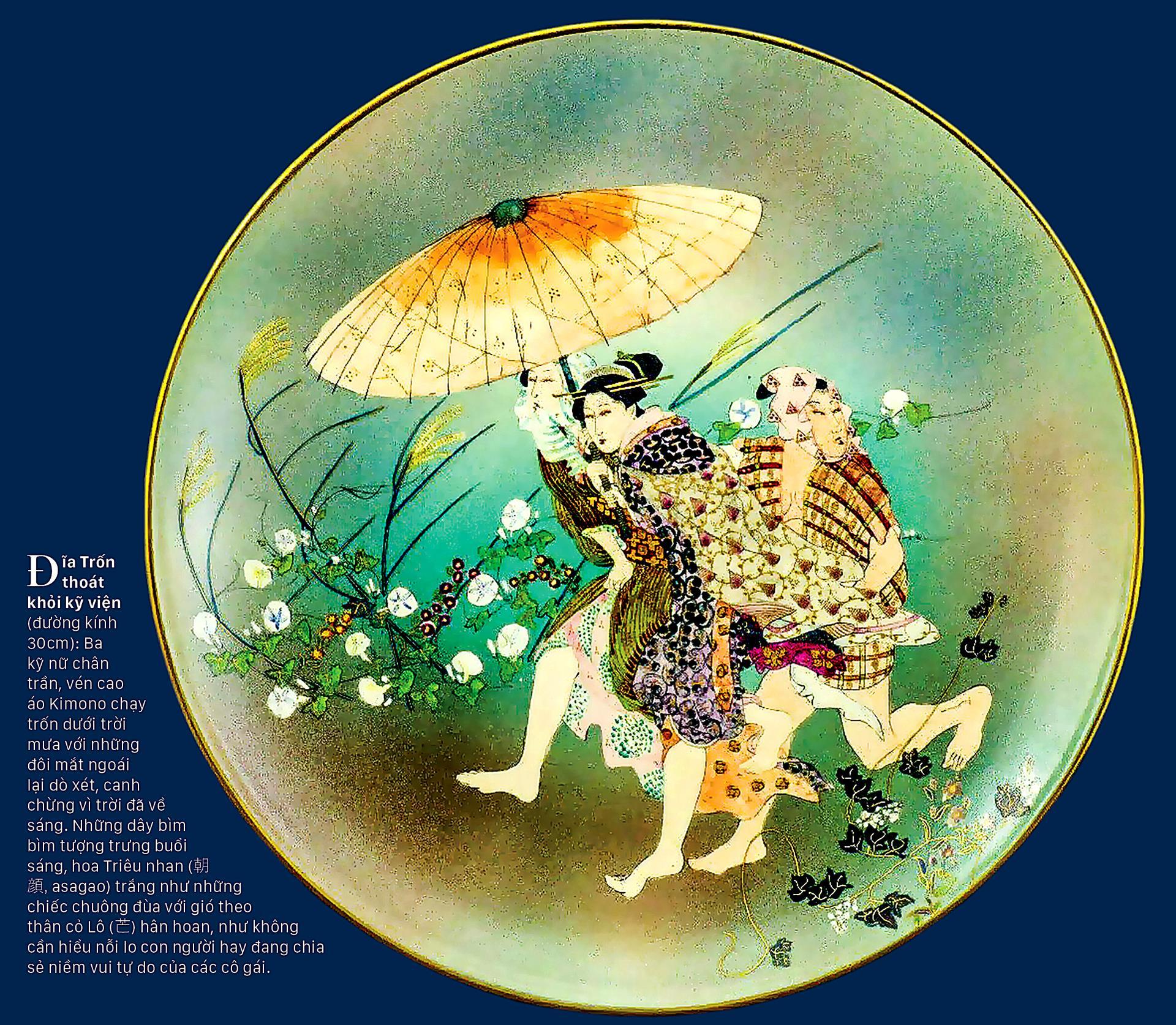 Tao nhã trang phục Kimono trên gốm cổ ảnh 5