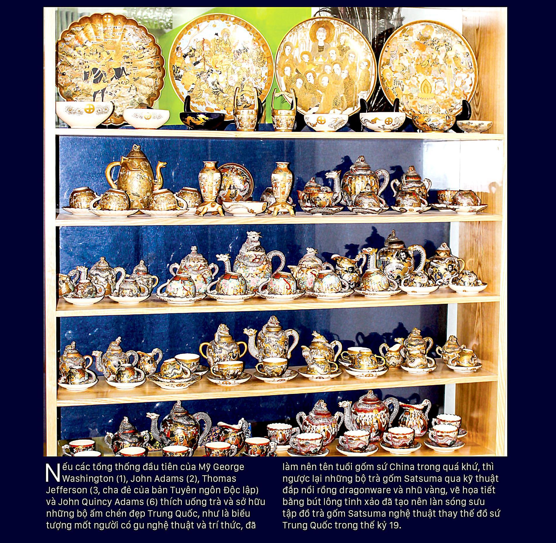 Giao thoa Đông - Tây qua những bộ trà SATSUMA ảnh 1