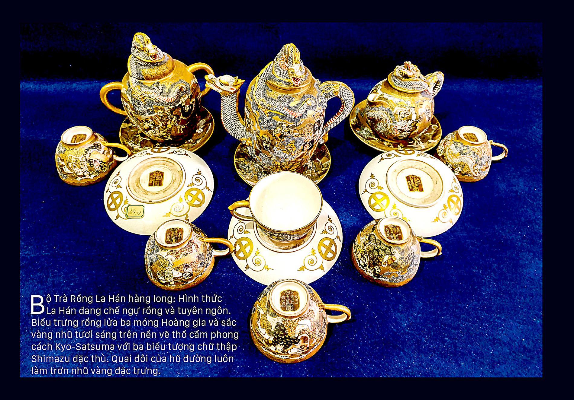 Giao thoa Đông - Tây qua những bộ trà SATSUMA ảnh 4