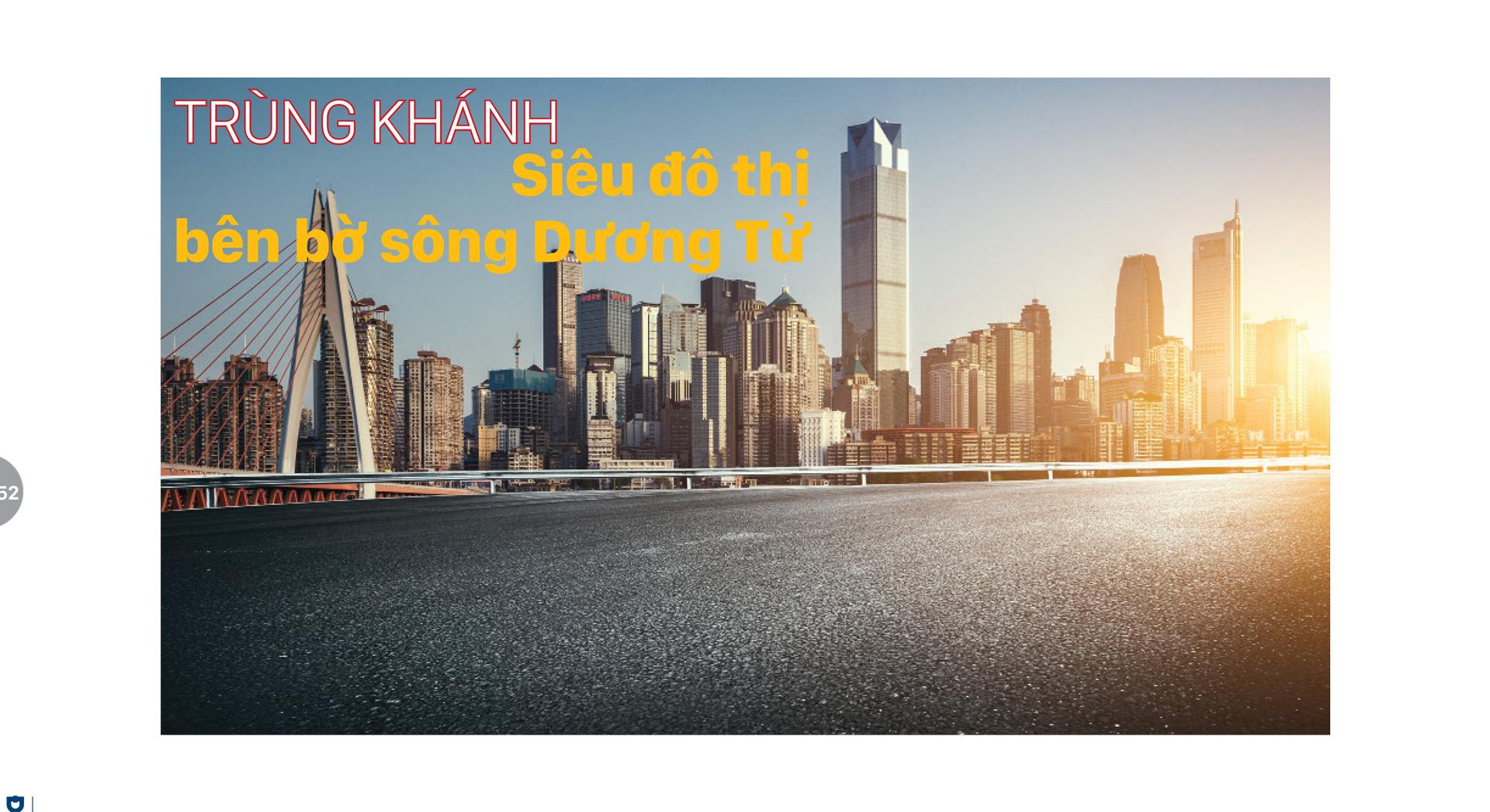 Trùng Khánh -  Siêu đô thị bên bờ sông Dương Tử