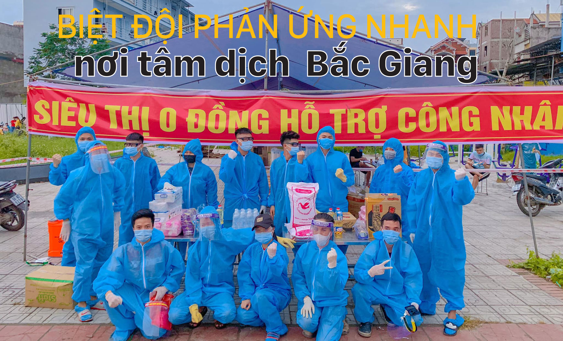 Biệt đội phản ứng nhanh nơi tâm dịch Bắc Giang