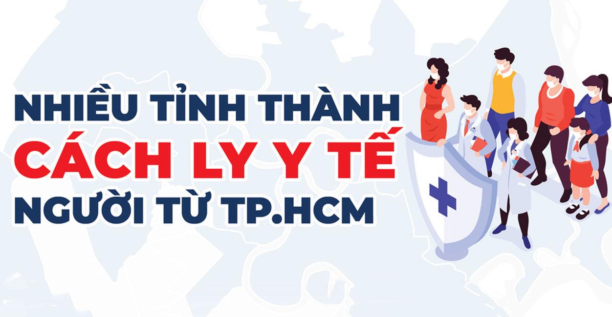 Infographic những tỉnh thành cách ly y tế người từ TPHCM