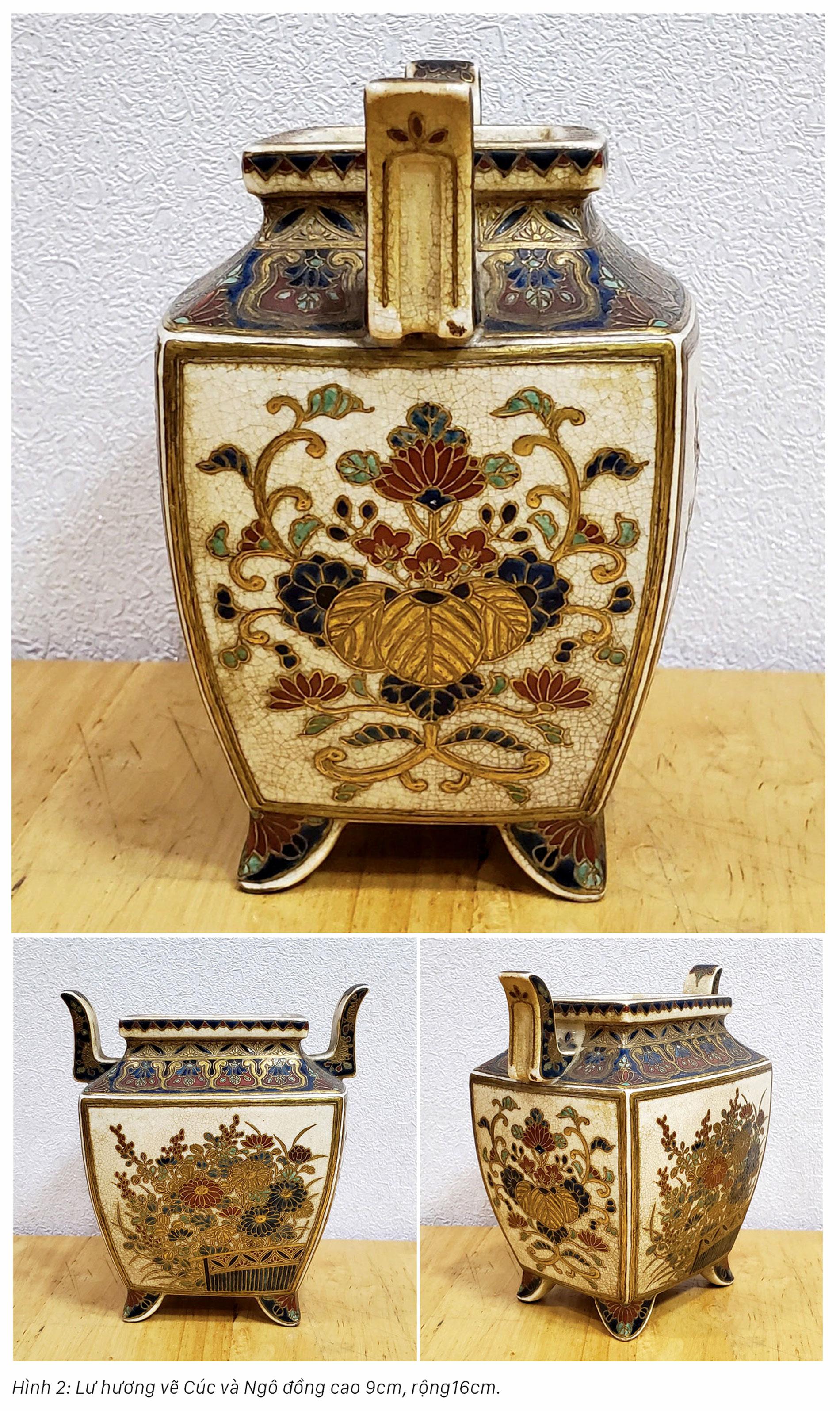 Hoa văn trên gốm nung Satsuma: Tâm tình của giới quý tộc Nhật Bản cận đại ảnh 2