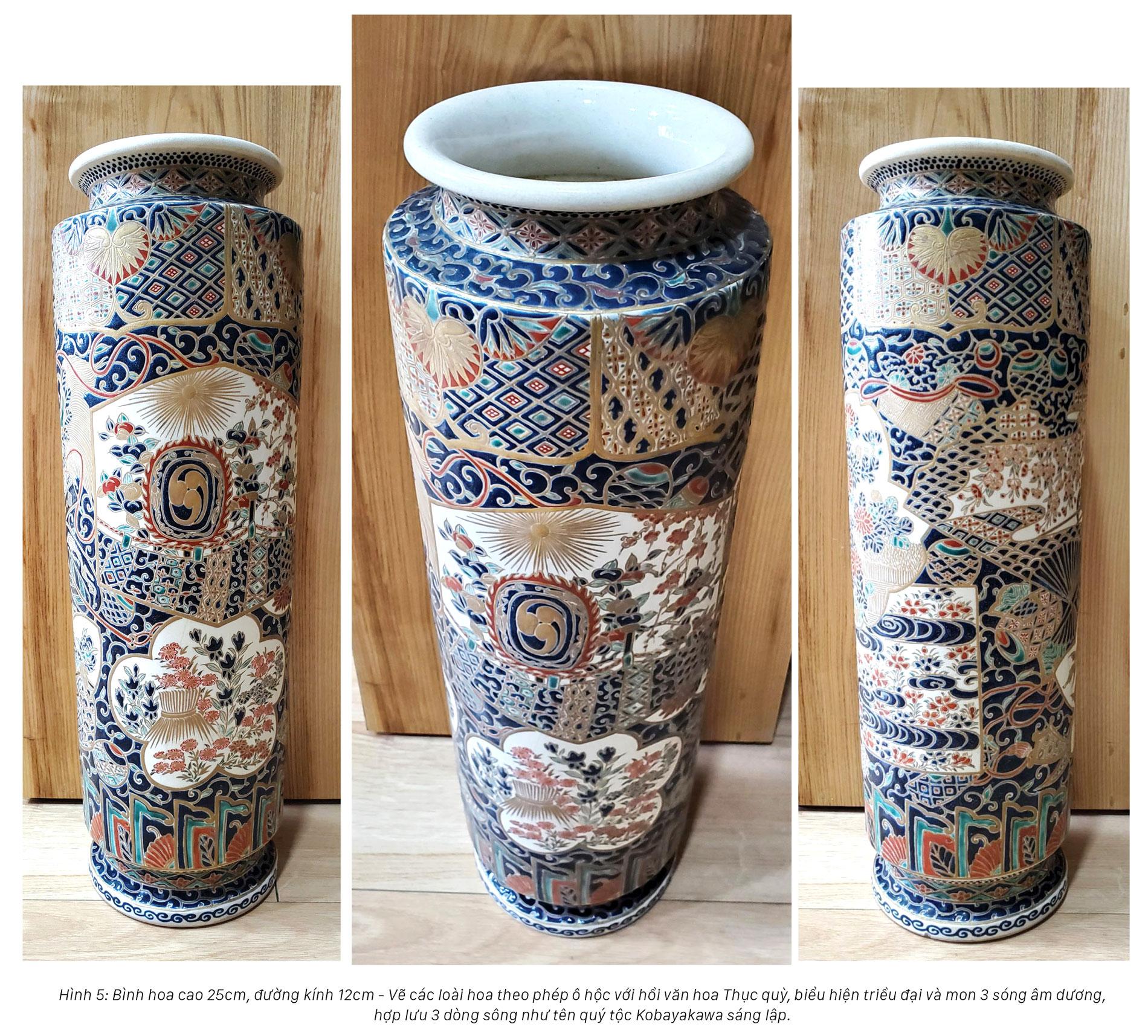 Hoa văn trên gốm nung Satsuma: Tâm tình của giới quý tộc Nhật Bản cận đại ảnh 3