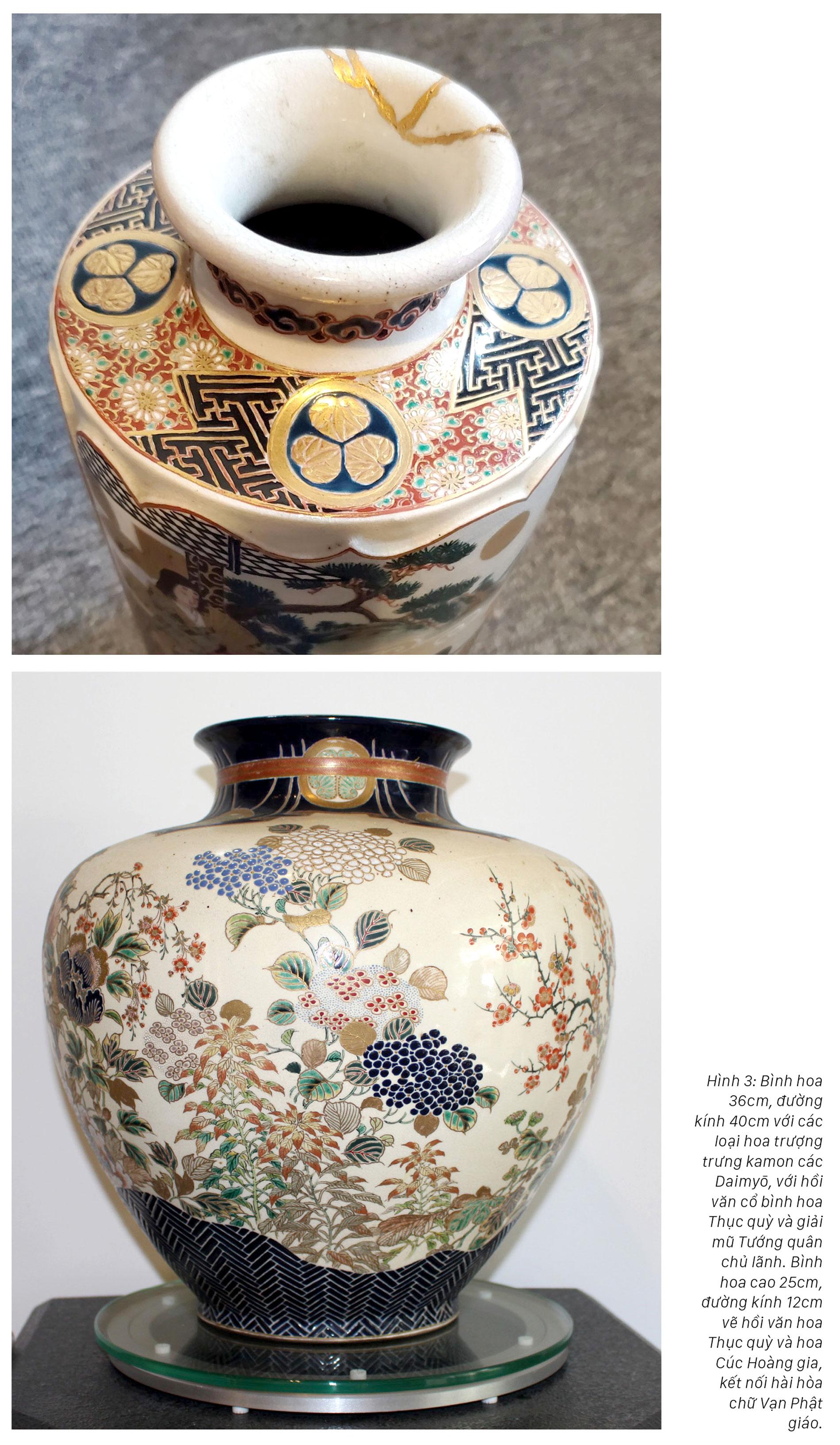 Hoa văn trên gốm nung Satsuma: Tâm tình của giới quý tộc Nhật Bản cận đại ảnh 5