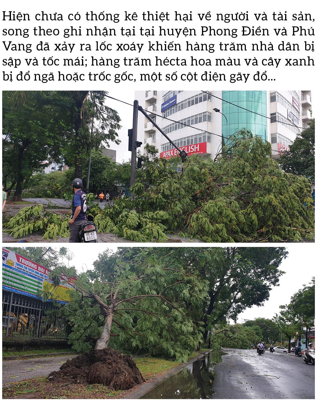 Bão số 5 đổ bộ miền Trung gây lốc xoáy, mưa lớn và ngập úng ảnh 4