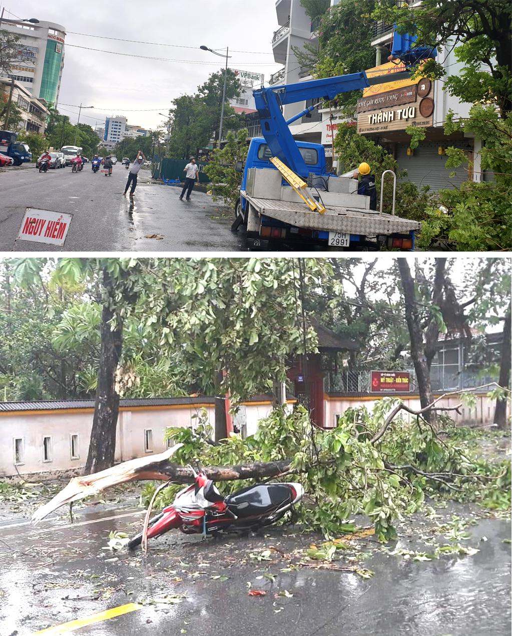 Bão số 5 đổ bộ miền Trung gây lốc xoáy, mưa lớn và ngập úng ảnh 6