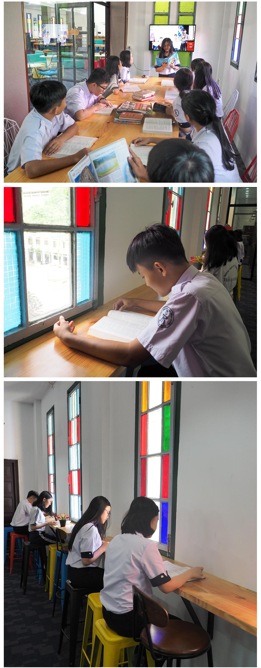 """Đến thăm thư viện """"5 sao"""" Trường THPT chuyên Trần Đại Nghĩa ảnh 13"""