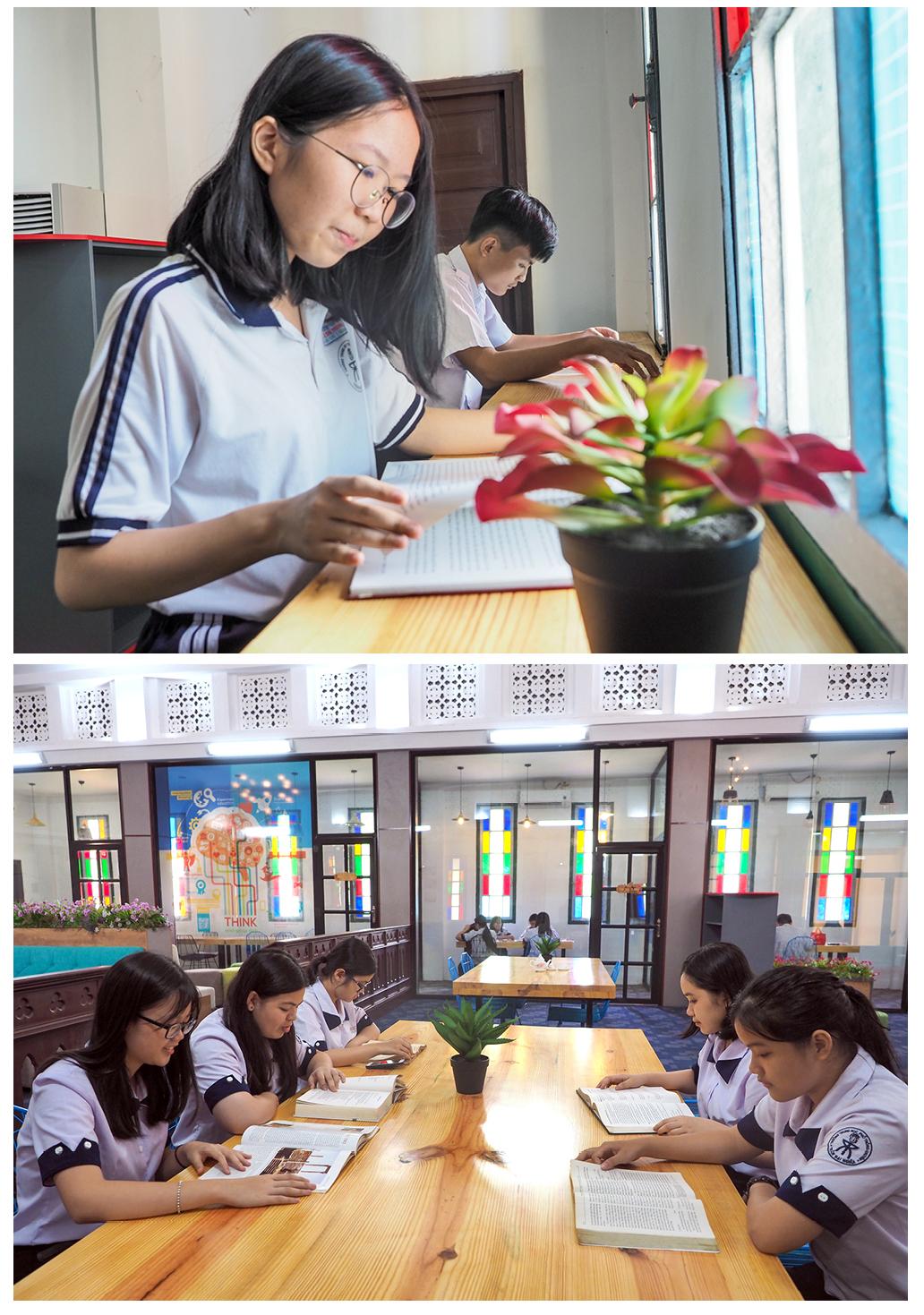 """Đến thăm thư viện """"5 sao"""" Trường THPT chuyên Trần Đại Nghĩa ảnh 14"""